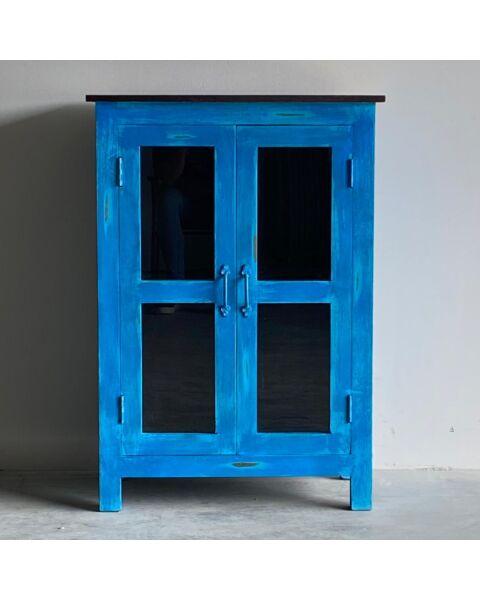 India Kast Blauw 2 Deuren