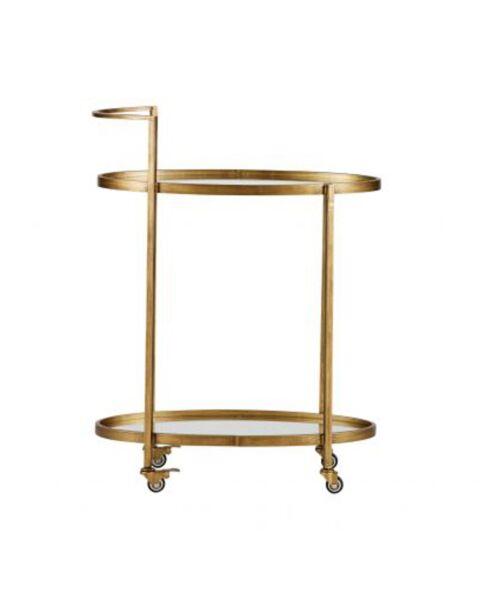 BePureHome Push Trolley Metaal Antique Brass