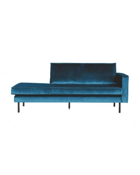 BePureHome Rodeo Daybed Right Velvet Blue