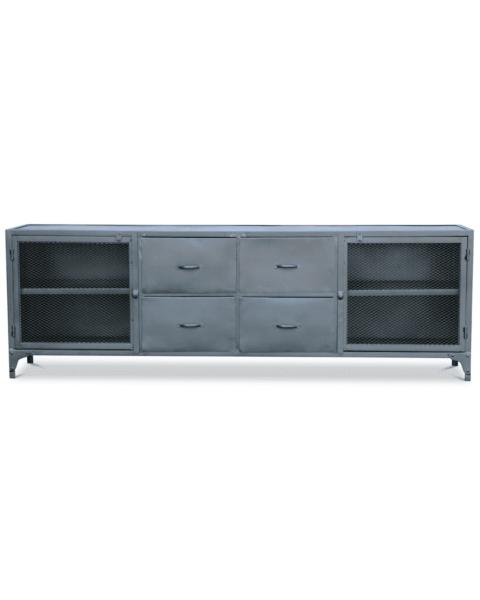 Industrieel tv meubel metaal budd