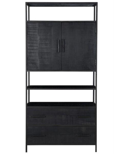 wandkast zwart hout