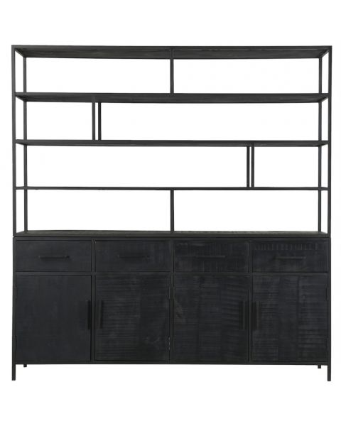 zwarte boekenkast