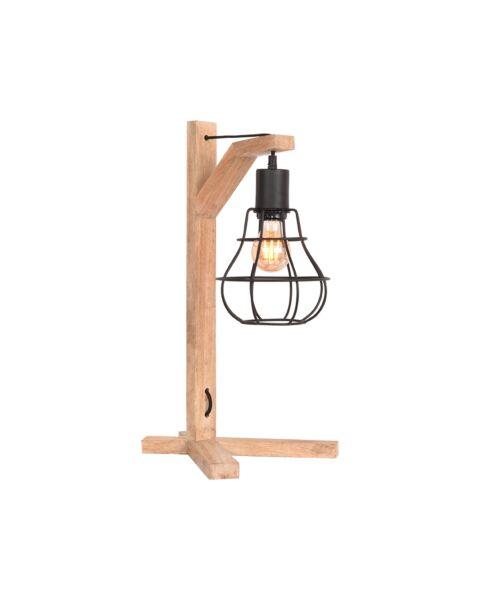 LABEL51 Tafellamp Drop Zwart Mangohout