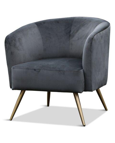 donkergroene fauteuil met gouden poten