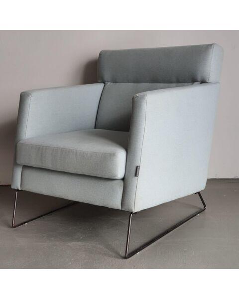 goedkope lichtblauwe fauteuil