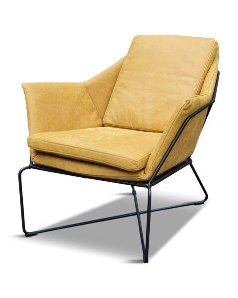fauteuil mosterd