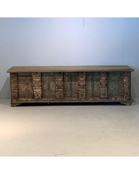 Oud Houten India Box Bruin