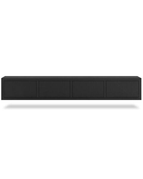Zwevend TV-meubel Diamond Zwart 240cm
